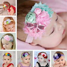 Kids Toddler Baby Girl Lace Bow Flower Headband Accessories Hair Band Headwear