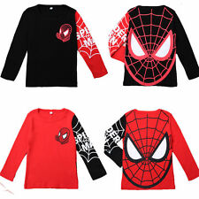 Kids Boys Toddler Spiderman Hero Long Sleeve Tops T Shirts Clothes Sweatshirt