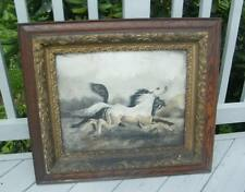 "Antique OLD CARVED GESSO VICTORIAN 1800's OAK Wood Picture Frame HOLDS 20"" x 16"""