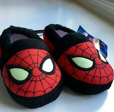 MARVEL Spiderman Small Med Large XL Slippers NWT Red Black Glow in the Dark Eyes