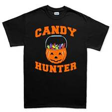 Candy Hunter Halloween Pumpkin Costume Mens T shirt Tee Top T-shirt