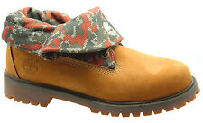 Timberland Roll Top Junior Boots Leather Wheat Boys Kids Lace Up 8193R U5