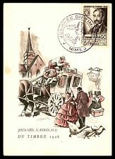 France Etienne Arago 1948 Maximum card Gandon First Day OF Issue FDC