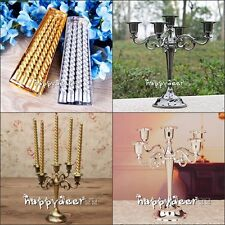 5 Arms Candle Holder Metal Crafts Alloy Candelabra & Candles Home Wedding Decor