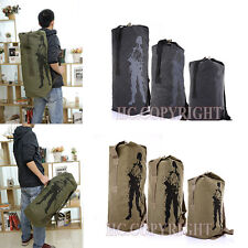 New Canvas Hiking Travel Military Army Duffle Bag Tactical Carry Rucksack 3 Size