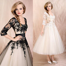 Womens Evening Party Dress Wedding Bridal Formal  Lace Prom Ball Cocktail Skirt