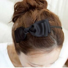 8 Colors Girls Bowknot Ribbon Alice Band Headband Bow Hairband Hair Accessories
