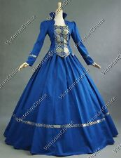 Renaissance Gothic Prom Dress Period Gown Theater Reenactment Punk Clothing 111