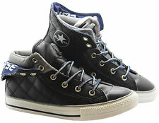 Converse Chuck Taylor CT PC2 Mid Black Leather Kids Youths Trainers 336055C WH