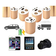 Dual USB Ports&2 Sockets Cigarette Lighter Car Chargers For Samsung iPhone Phone
