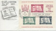 #UN38 10th Anniversary Sheet United Nations Artmaster cachet FDC