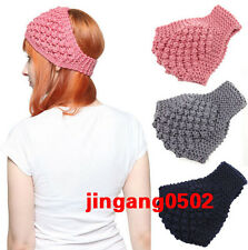 NEW Crochet hairband girl Knit wide headband Winter Ear Warmer Headwrap hair ACC