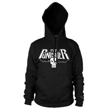 Official Marvel Comics The Punisher Skull Logo Black Hoodie - Hooded Sweater
