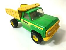 VINTAGE TONKA DIECAST GREEN AND YELLOW PICK DUMP TRUCK TOY