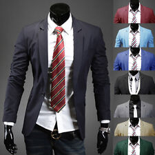 New Fashion Mens Casual One Button Slim Fit Stylish Suit Coat Jacket Blazers