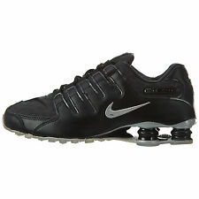 Nike Shox NZ PA Mens 724531-003 Black Silver Leather Running Shoes Size 7
