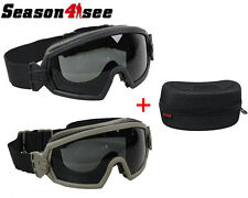Airsoft Regulator Goggle Glasses Hunting Motorcycle Wind Dust Protection 2 Lens