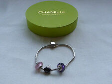 CHAMILIA CHARM BRACELET WITH 3 CHARMS