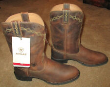 New Wmns ARIAT Heritage Roper Brown Leather Cowboy Boots sz 8.5 B