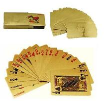 New Cool 24K Gold Foil Plated Poker Playing Cards Deck Collection US Dollors