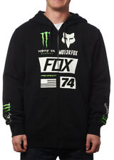 Fox Racing Mens Monster Energy Union Zip Front Motocross Hoody Sweatshirt