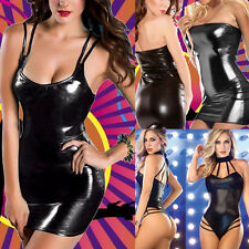 Women Lingerie Bodycon Patent Leather Underwear Jumpsuits Clubwear Stripper Lot