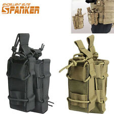 1000D Molle Tactical Double Rifle Magazine Pouch Hunting Pistol Belt Pouch Black