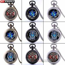 Star Of Life Antique Pocket Watch Chain Vintage Quartz Necklace Pendant Gift UK