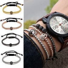 Handmade Unisex Handicraft Mens Women Charms 18K Macrame Bracelet Bangle Jewelry
