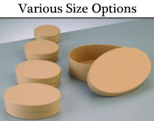 Paper Mache Oval Flat Boxes with Lids to Decorate - Choice of Sizes