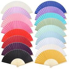 Chinese Folding Bamboo Fan Vintage Retro Hand Cloth Fans Wedding Favors Gift New