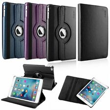 360 Degree Rotating Swivel Magnetic Leather Stand Cover Case For iPad Mini 4