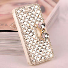 Bling Diamond Bowknot Crystal Wallet Flip Case Cover For iPhone Samsung Goodish