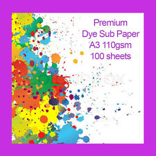 Premium A3 Dye Sublimation Heat Transfer Paper 110gsm 100 Sheets FAST DELIVERY