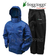 FROGG TOGGS RAIN GEAR-AS1310-112 ALL SPORTS BLUE W/BLACK PANTS SUIT GOLF WET