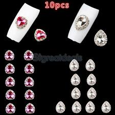 10pcs 3D Nail Art Sticker Gems Rhinestones False Acrylic UV Gel Nails DIY Charms