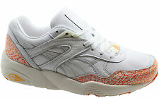 Puma R698 Snow Splatter Pack Leather White Mens Trainers 358391 02 D65