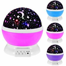 LED Rotation Night Sky Projector Starry Night Light Star Lamp Romantic Fairy 5V