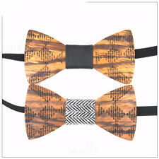 Fashion Creative Mens Wooden Bow Tie Colorful Wood Wedding Bow Tie