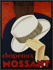 'Chapeaux Mossant, 1928' by Olsky Framed Vintage Advertisement on Canvas