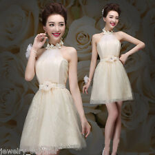 Fashion Formal Lace Evening Dresses Short Wedding Bridesmaid Prom Party Dress