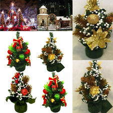Mini Christmas Tree Decoration Christmas Holiday Home Shop Party Decor Ornaments