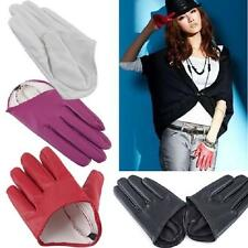 Fashion Sex and The City PU Leather Women Five Finger Half-Palm Gloves Size M L