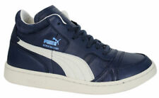 Puma Boris Becker Leather Mid Top Trainers Mens Peacoat 357768 03 U87