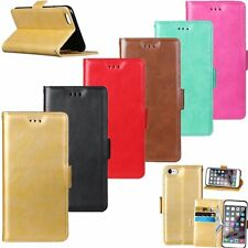 Flip Leather Wallet Cards Stand Magnetic Case Cover For iPhone 5 5s 6 6s Plus SE