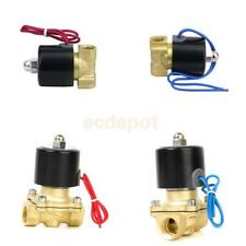 "Brass 1/2"" or 1/4"" Electric Solenoid Valve Water Air Fuels Gas Normal Closed New"
