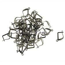 50pcs Retro French Earrings Clasps Hooks Open Loop DIY Makings