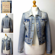 New FALMER HERITAGE JEANS Womens Fitted DENIM JACKET ~ Asst Sizes ~ BLUE
