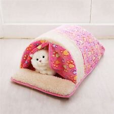 Soft Cotton Cat/Dog Bed Sofa Warm Cozy Pet Kitty Puppy Beds Sleeping Bag M/L