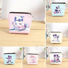 Fashion Women Girl Small Wallet Leather Cute Cat Pattern Coin Purse Mini Handbag